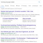 Werbung bei Google Suche schalten – Kosten, Keywords wählen, Tipps
